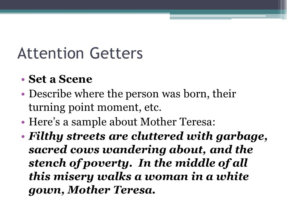 attention getter for perception paper