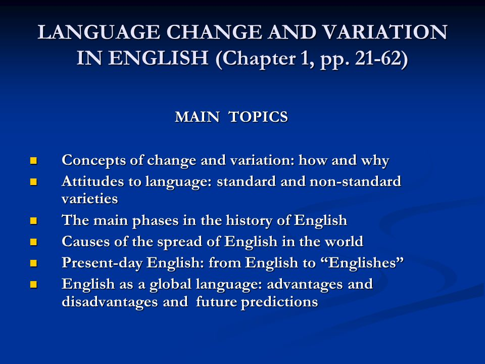 Language Variation & Change