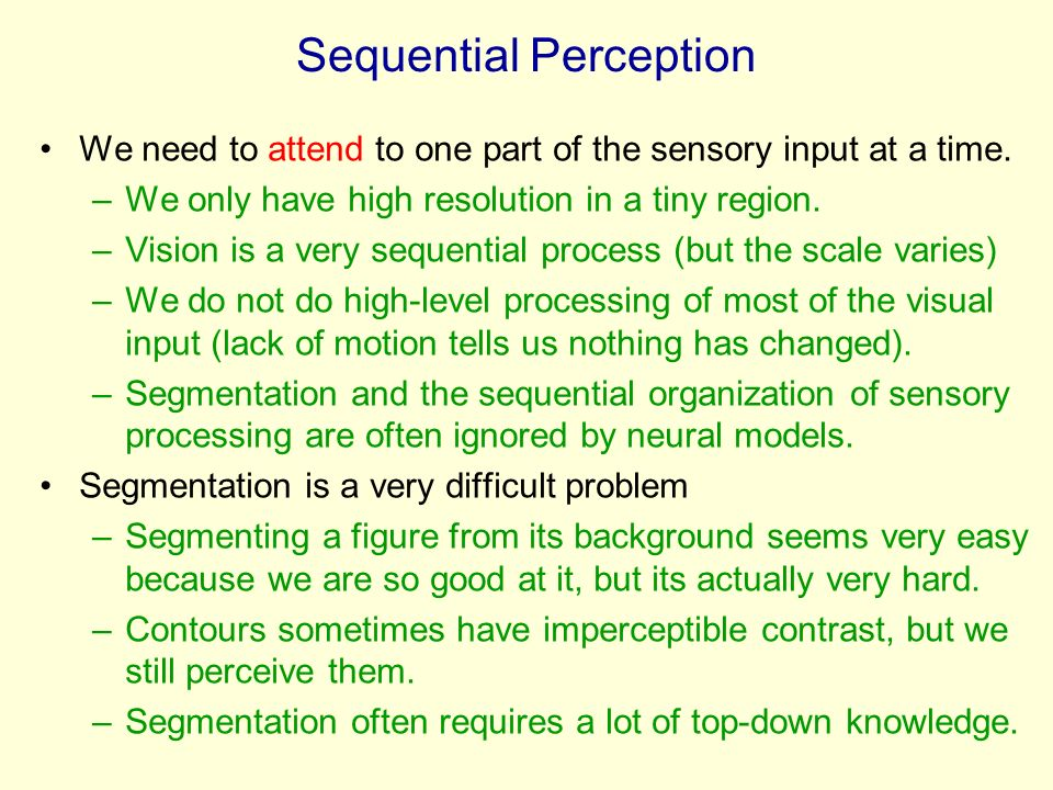 Sequential Perception