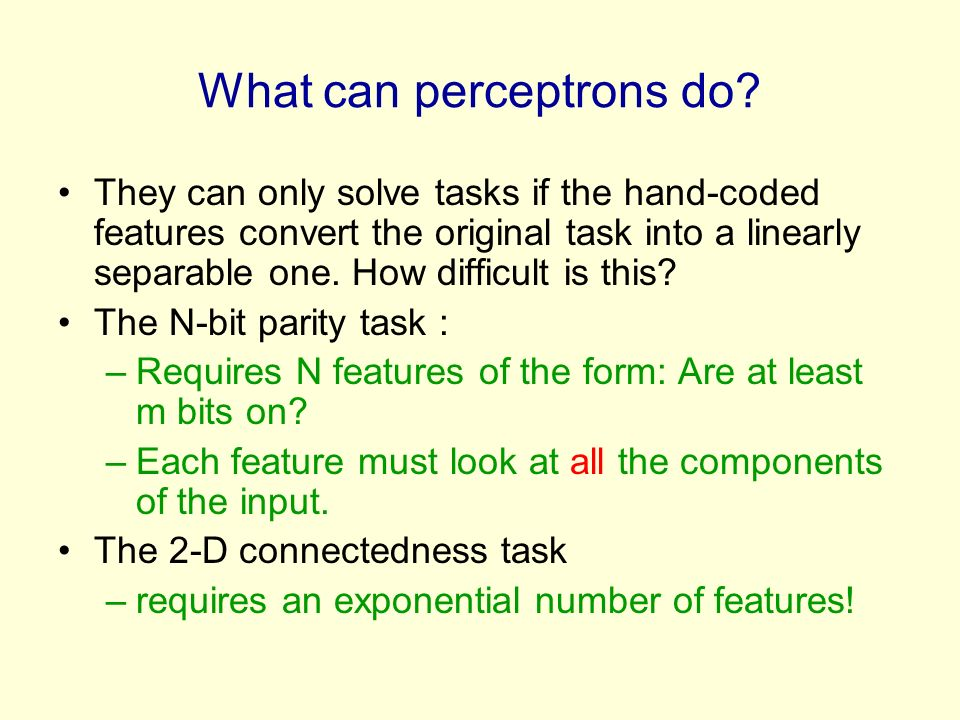 What can perceptrons do