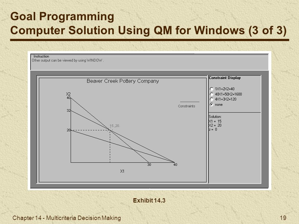 Computer Solution Using QM for Windows (3 of 3)