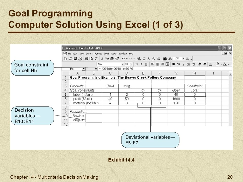 Computer Solution Using Excel (1 of 3)