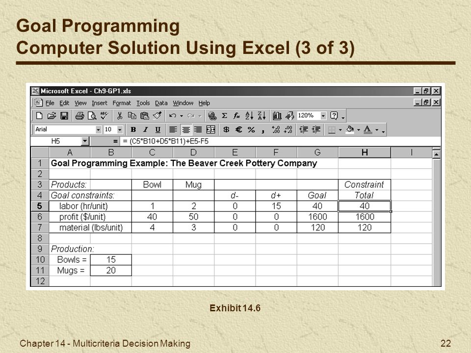 Computer Solution Using Excel (3 of 3)