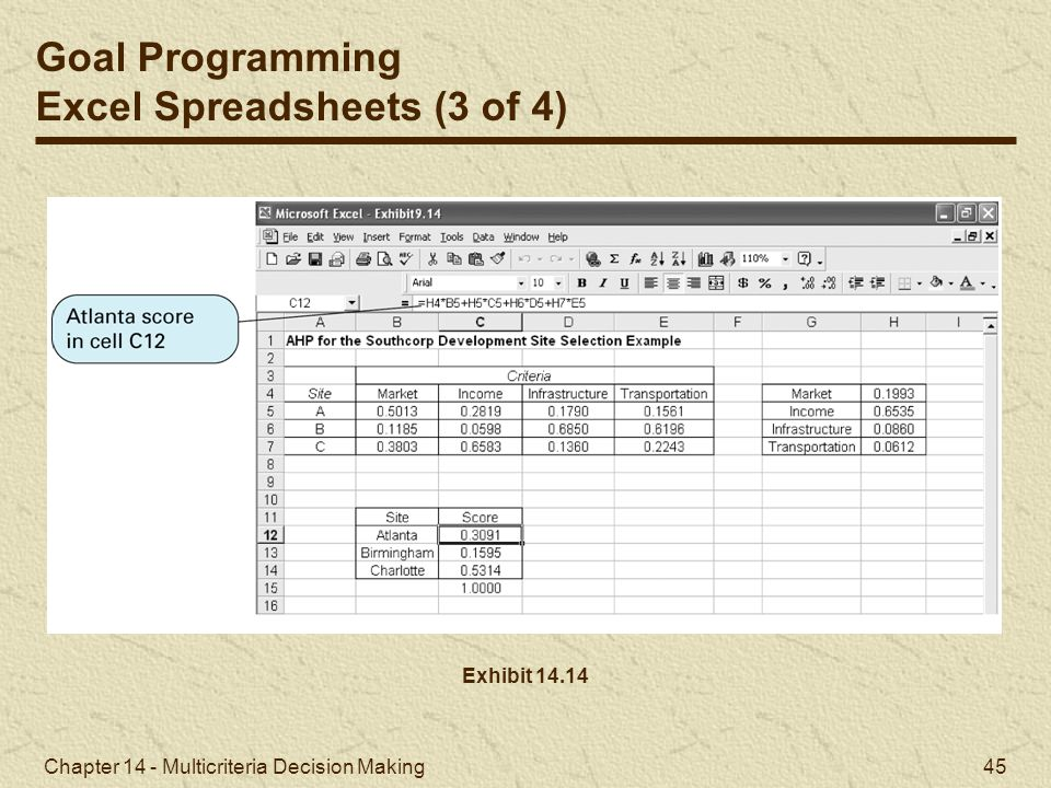 Excel Spreadsheets (3 of 4)