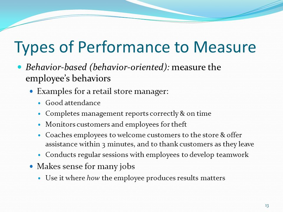 describe how employee performance is measured and managed Performance measurement quiz with answers 67 quick reference for developing performance plans  performance management employee performance plans employees must know what they need to do to perform their jobs successfully expectations  ments cannot describe group performance, we are saying that the group's perfor.