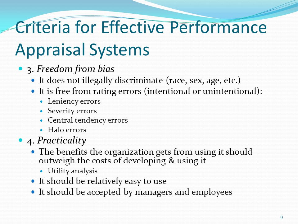 Characteristics of an Effective Performance Appraisal