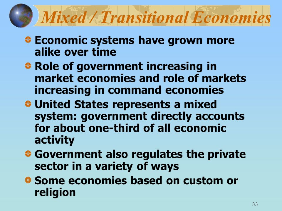 Mixed / Transitional Economies