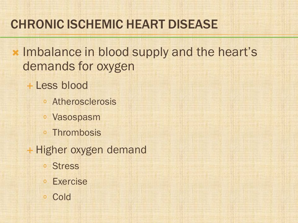 Chronic Ischemic Heart Disease