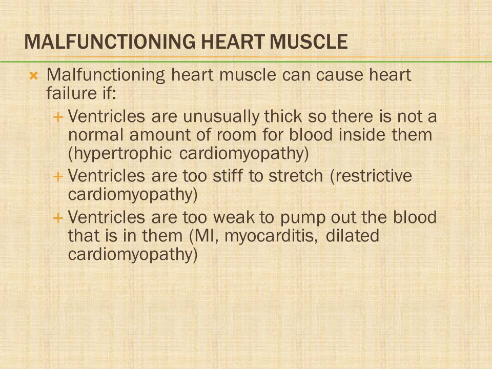 Malfunctioning Heart Muscle