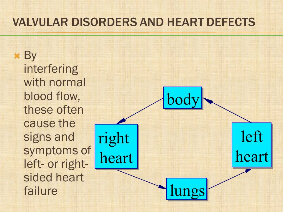 Valvular Disorders and Heart Defects