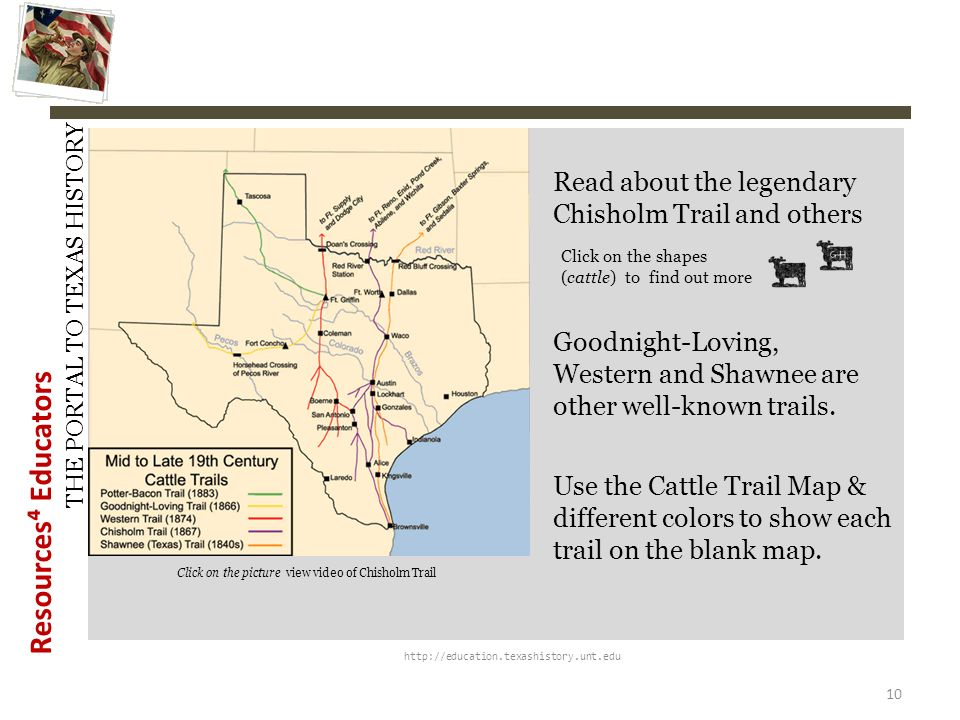 Read about the legendary Chisholm Trail and others