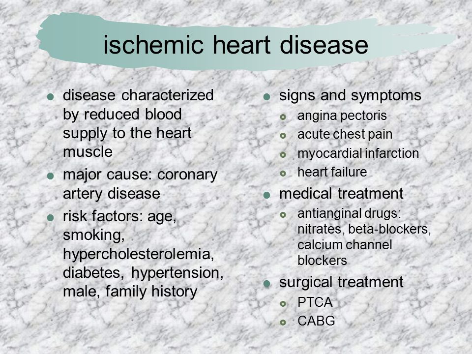 signs and symptoms of ischemic heart disease pdf
