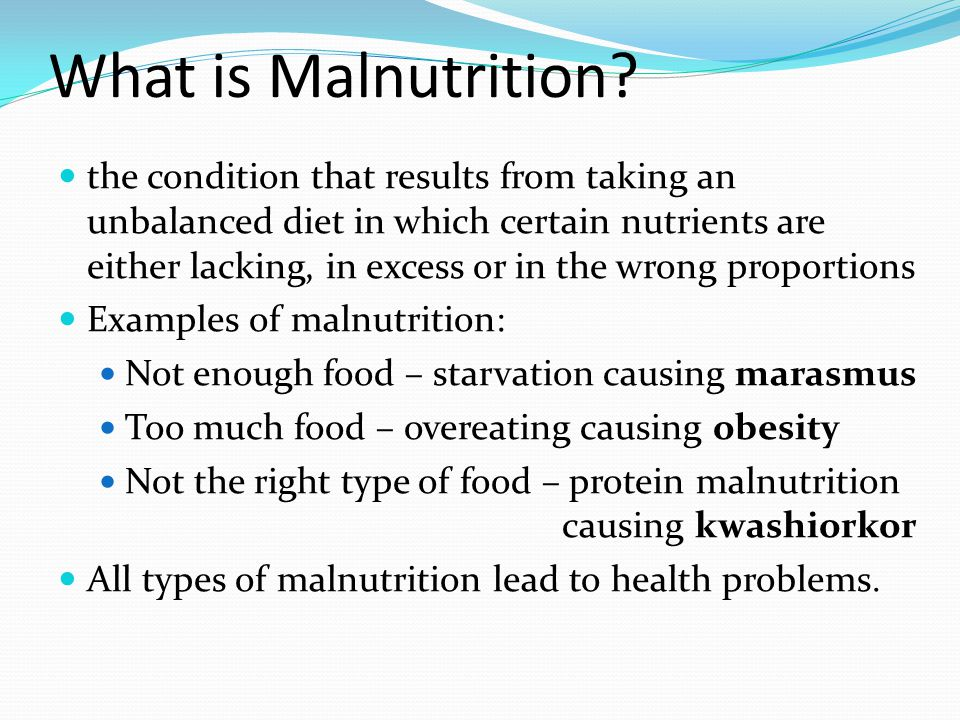 What is considered a starvation diet?