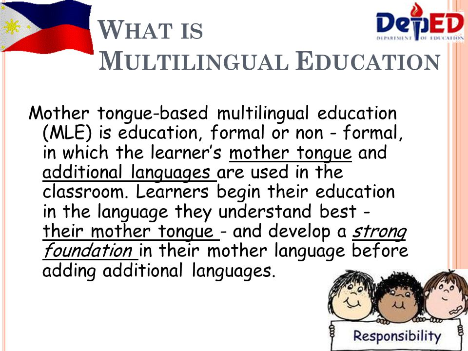 mother tongue based multilingual education Factors affecting the implementation of the mother tongue-based multilingual education as perceived by teachers in baguio and benguet dialyn a gorio.