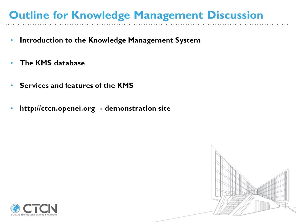 Outline for Knowledge Management Discussion