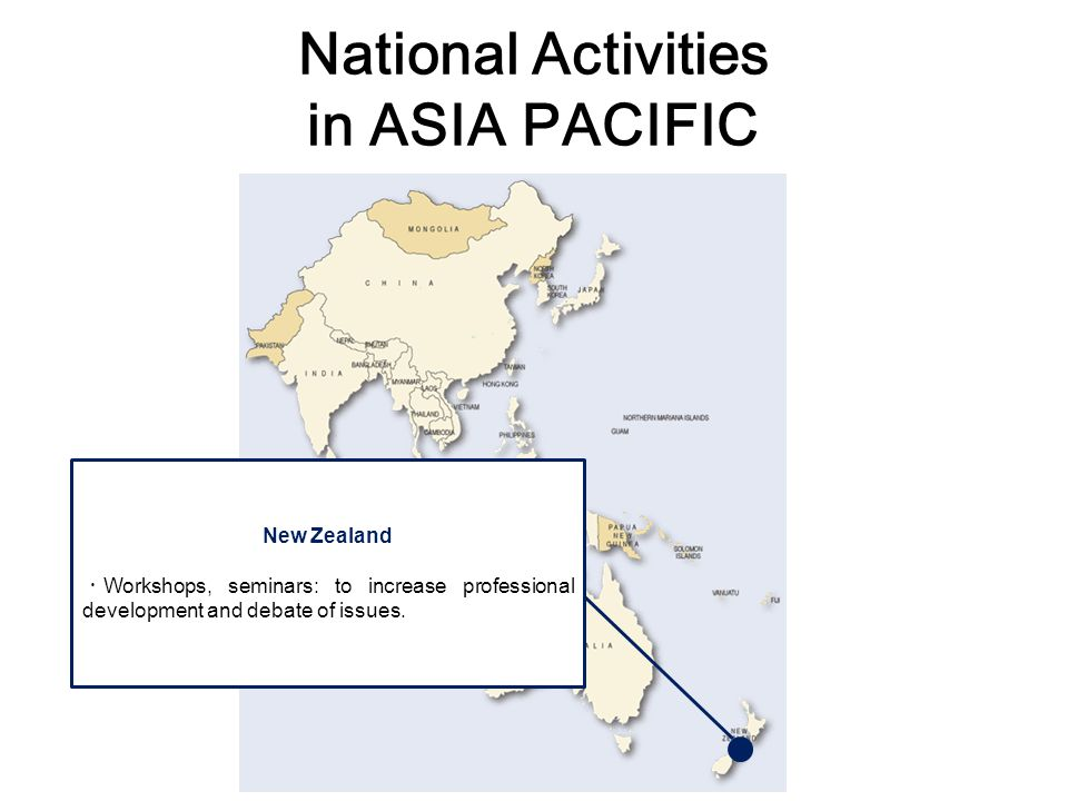 National Activities in ASIA PACIFIC