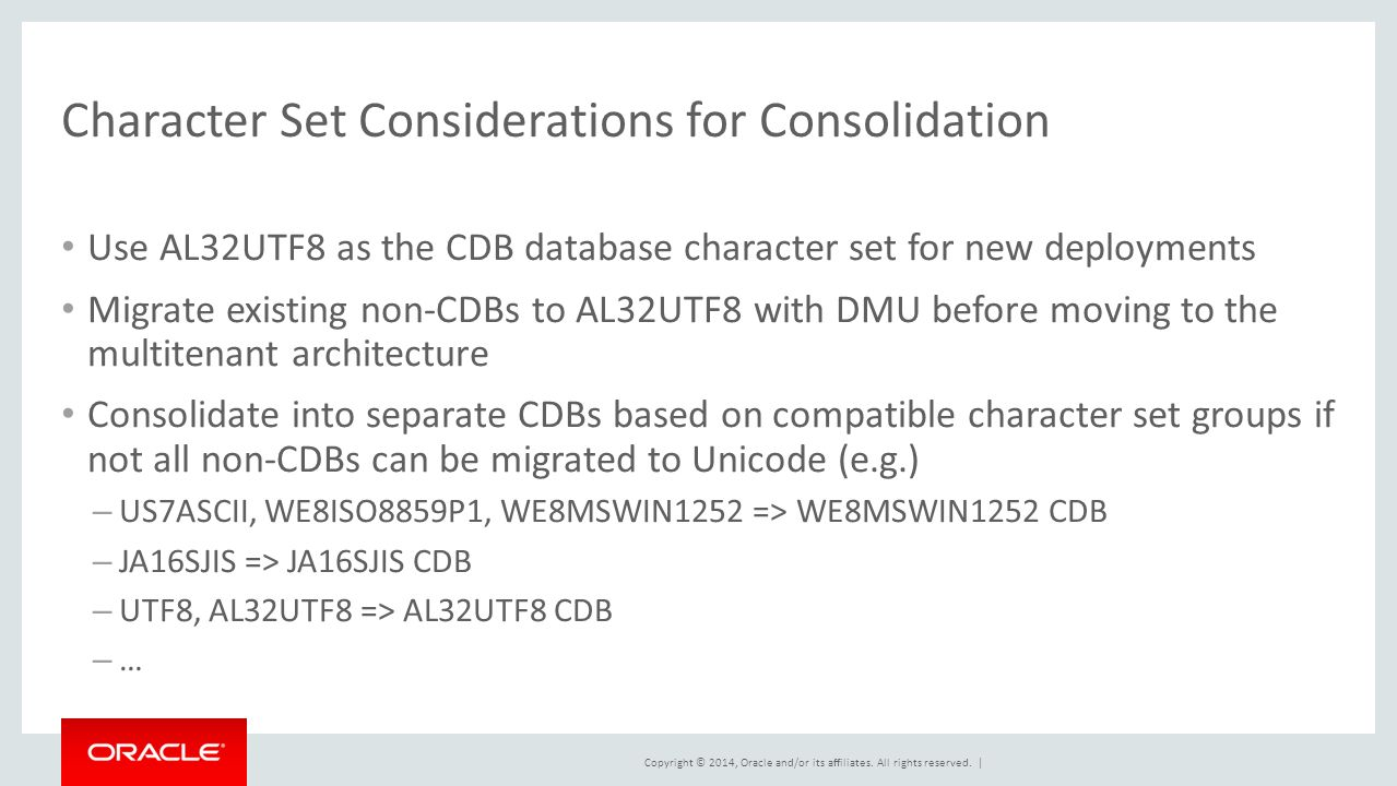 Near-Zero Downtime Unicode Migration for Oracle Databases - ppt ...