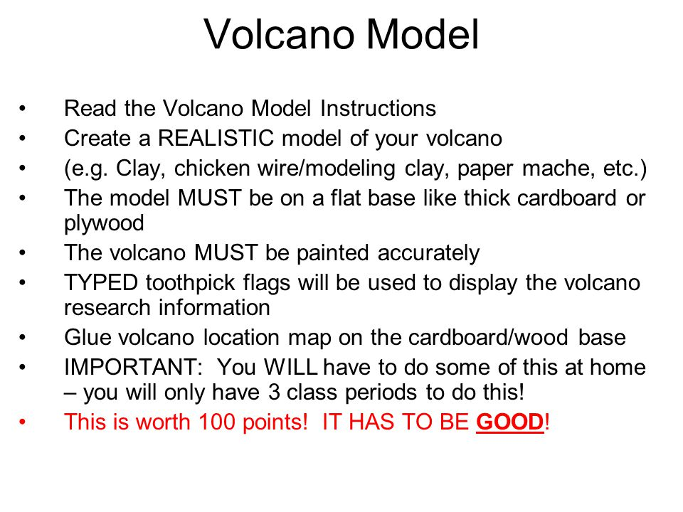 Volcano project instructions ppt video online download for How do you make paper mache glue at home