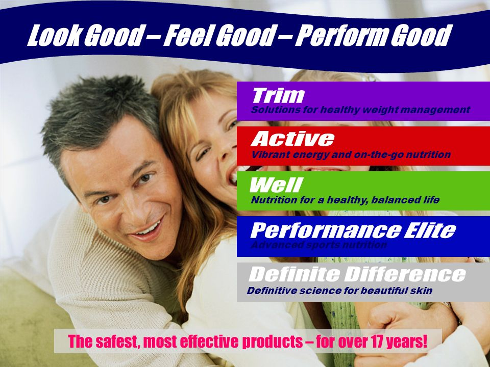 Look Good – Feel Good – Perform Good