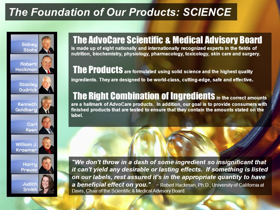 The Foundation of Our Products: SCIENCE