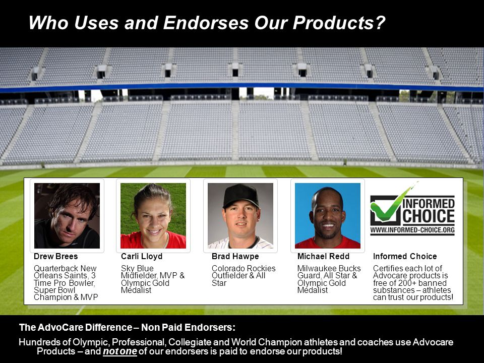 Who Uses and Endorses Our Products