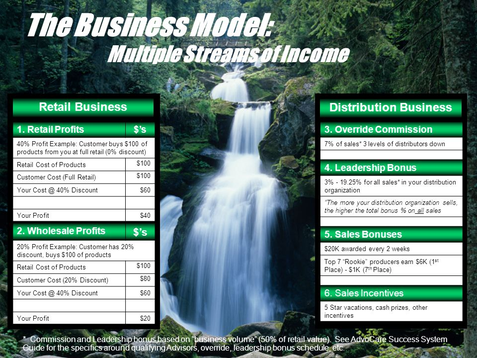 The Business Model: Multiple Streams of Income