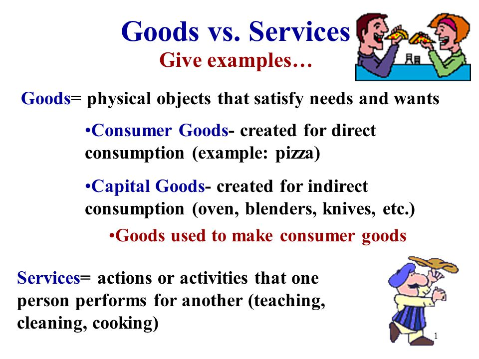 Goods vs services give examples ppt video online download services give examples malvernweather Gallery