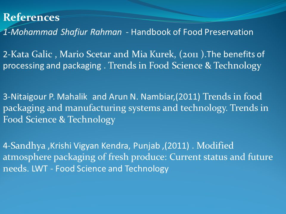 trends in food science and technology pdf
