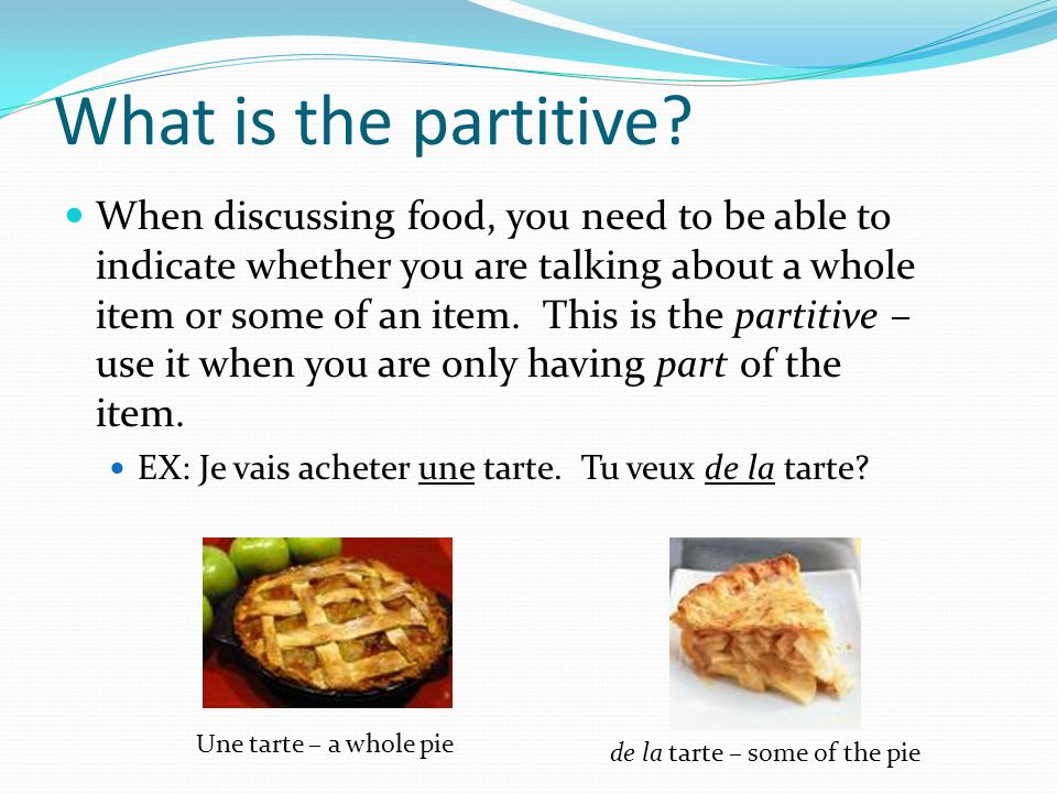 What is the partitive