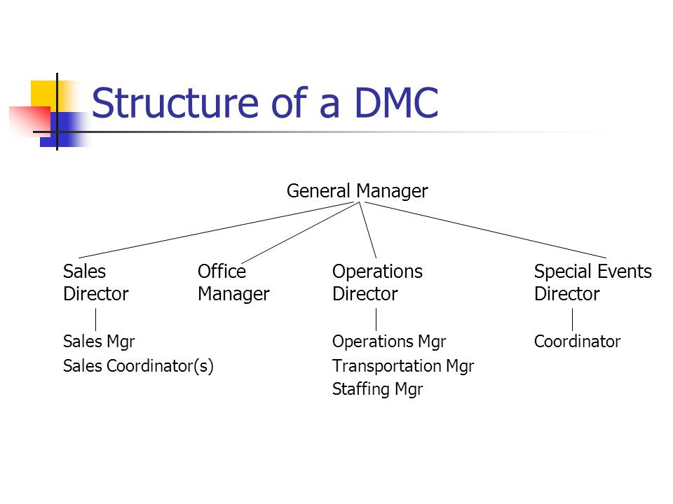 Structure of a DMC General Manager