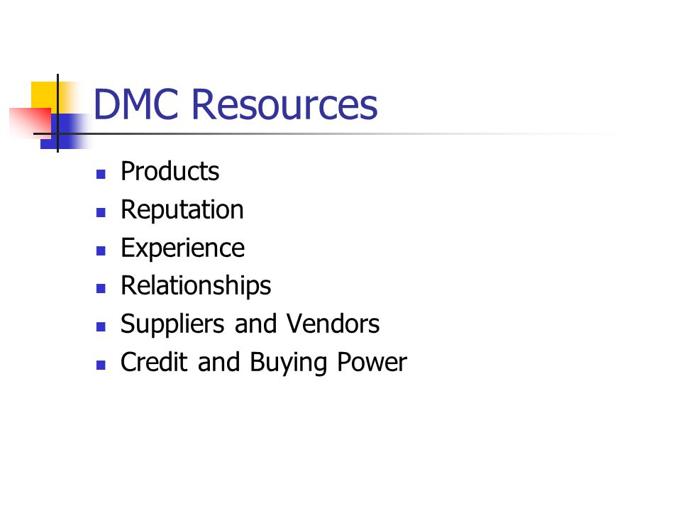 DMC Resources Products Reputation Experience Relationships