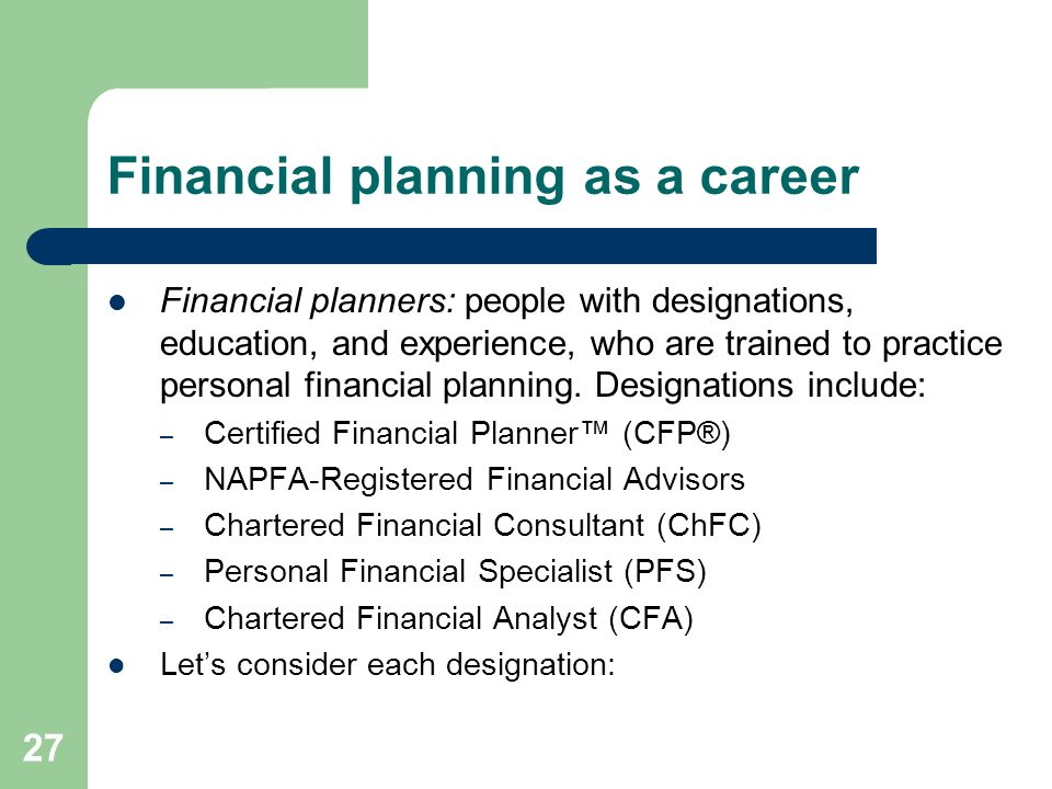 Introduction To Personal Financial Planning Ppt Video Online Download