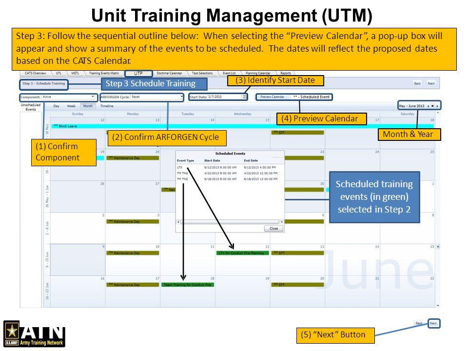 Course Calendar Utm Planner : Unit training management utm ppt video online download