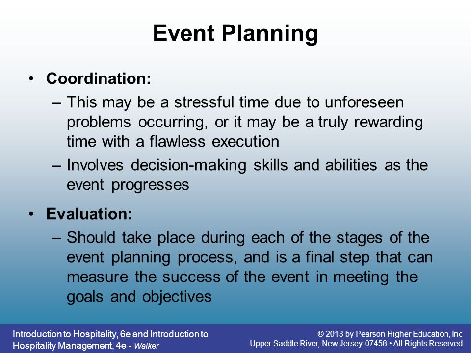 Event Planning Coordination: