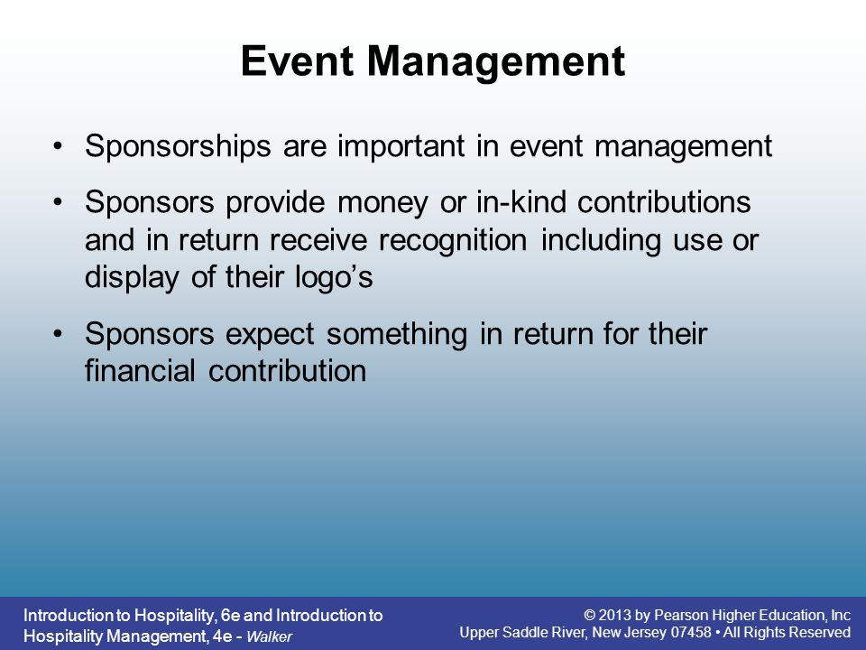 Event Management Sponsorships are important in event management