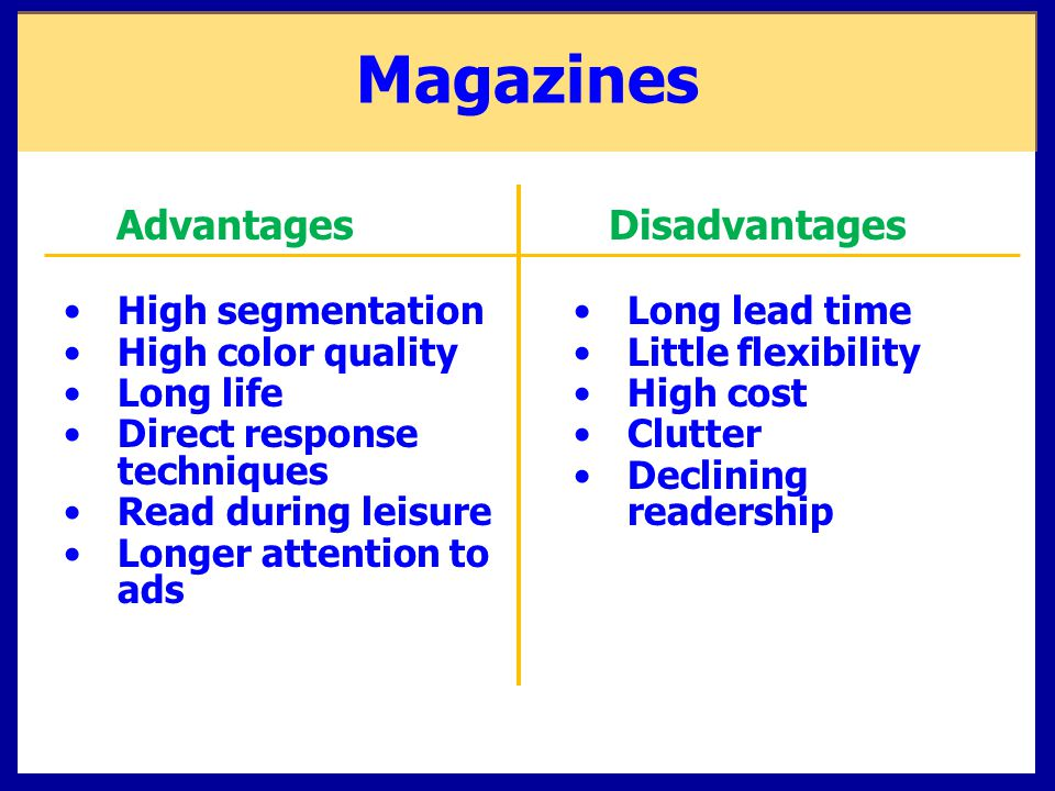 explain the advantages and disadvantages of demographic variables A demographic environment is a set of demographic factors such as gender or  ethnicity  this practice has both advantages and disadvantages  develop  well-defined strategies about how to reach each population -- that is.