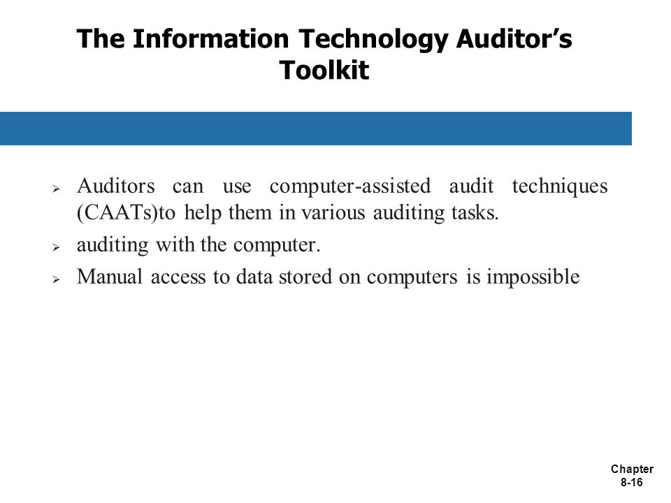 The Information Technology Auditor's Toolkit