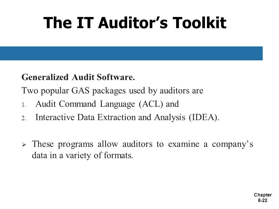 The IT Auditor's Toolkit