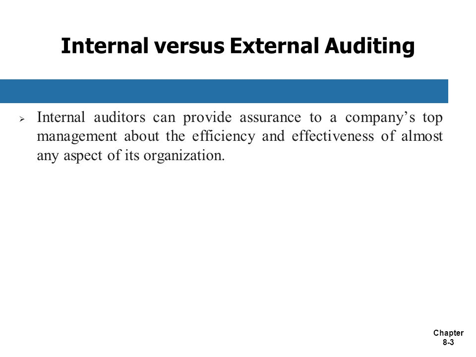 Internal versus External Auditing