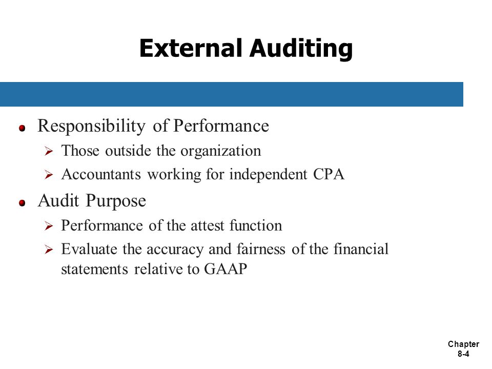External Auditing Responsibility of Performance Audit Purpose