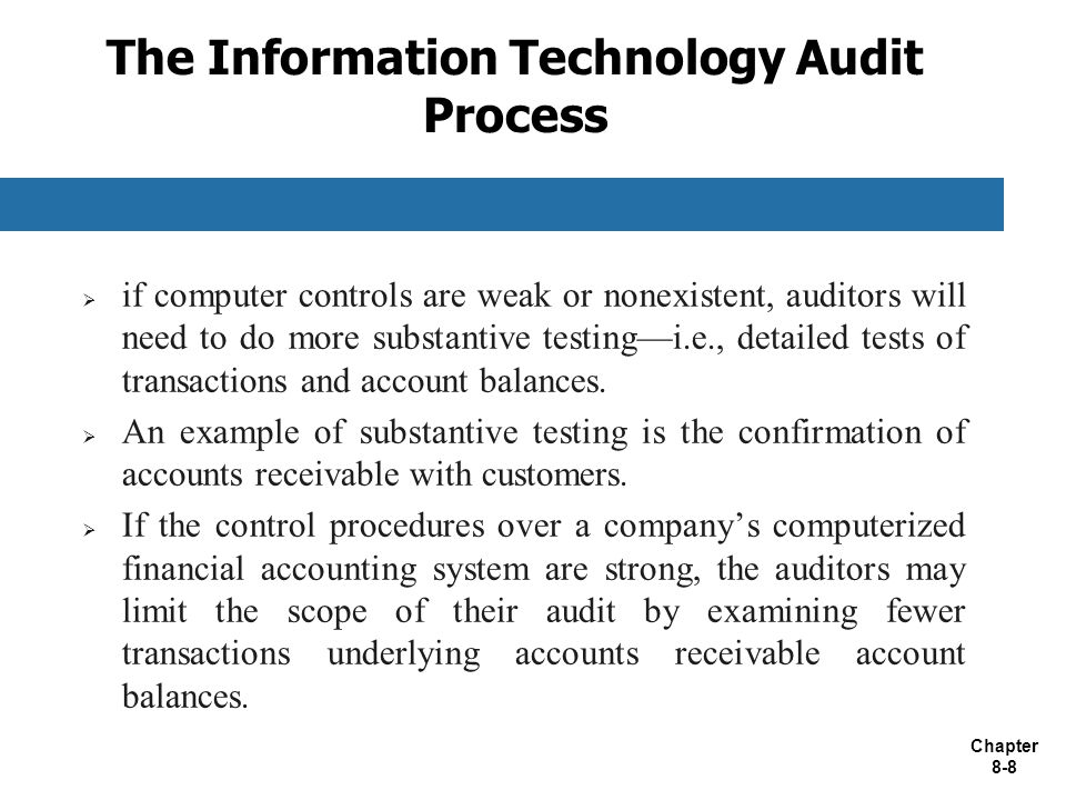 The Information Technology Audit Process