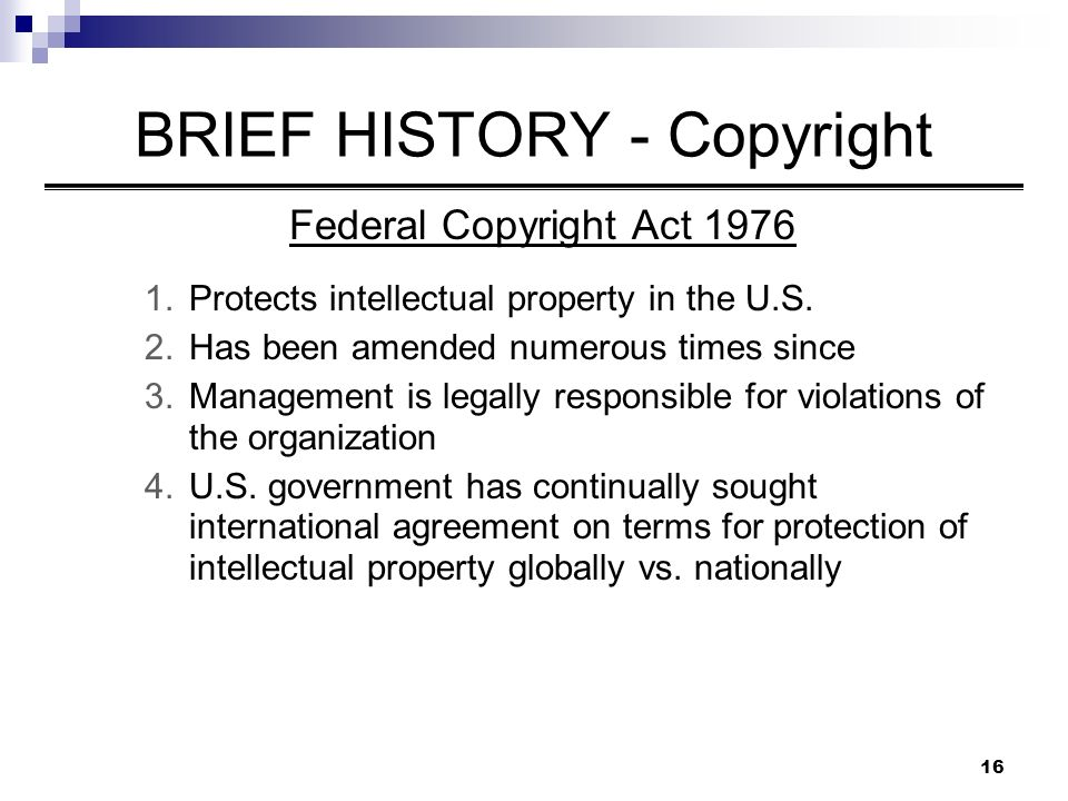 a brief history of copyright law in the us