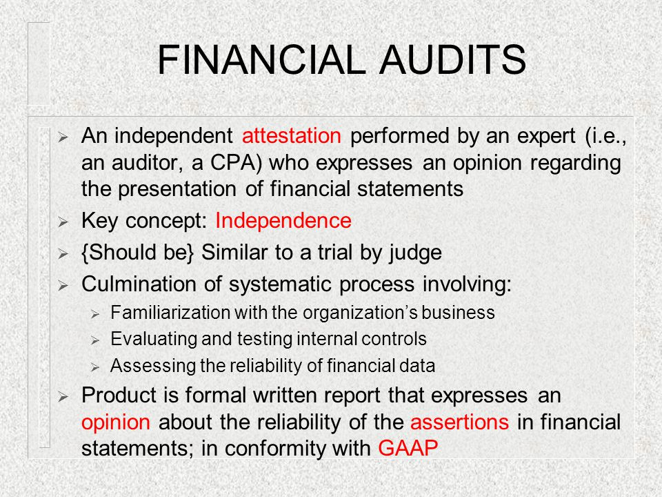 Audit vs Attestation vs Assurance Essay
