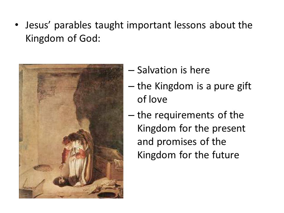the significance of the use of parables in christianity Jesus in christianity  apostle paul viewed the birth of jesus as an event of cosmic significance which  william barclay states that the parables of jesus use.