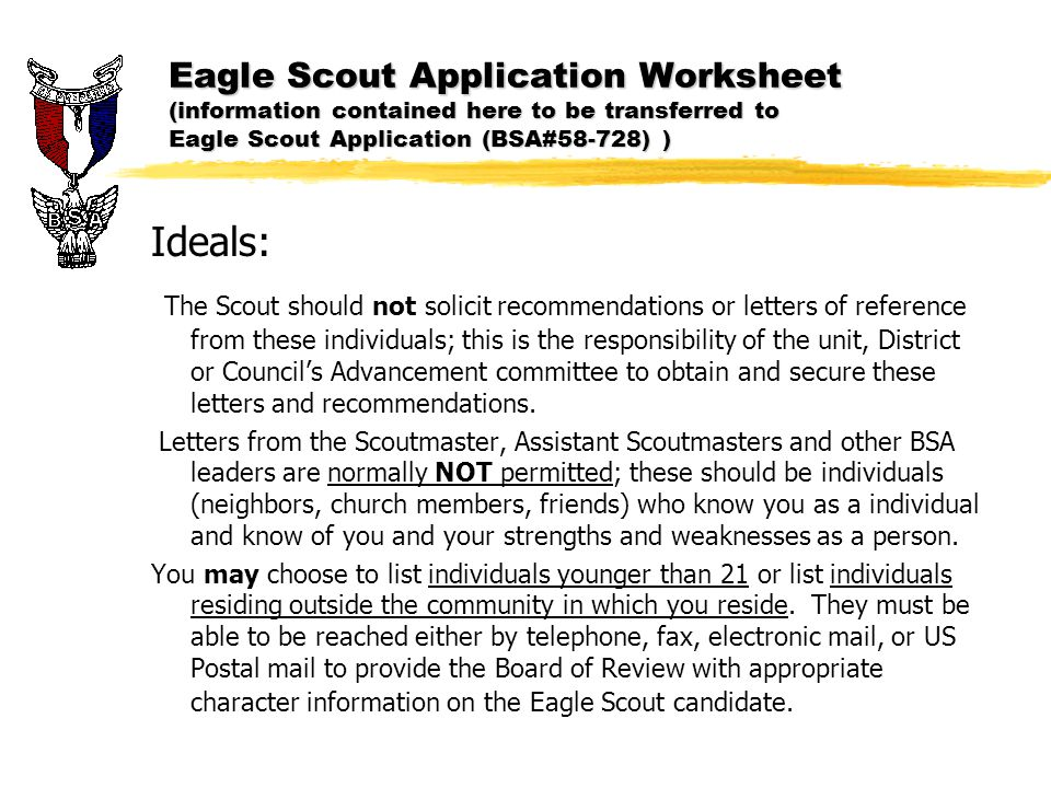 Eagle Scout Application - Ppt Download