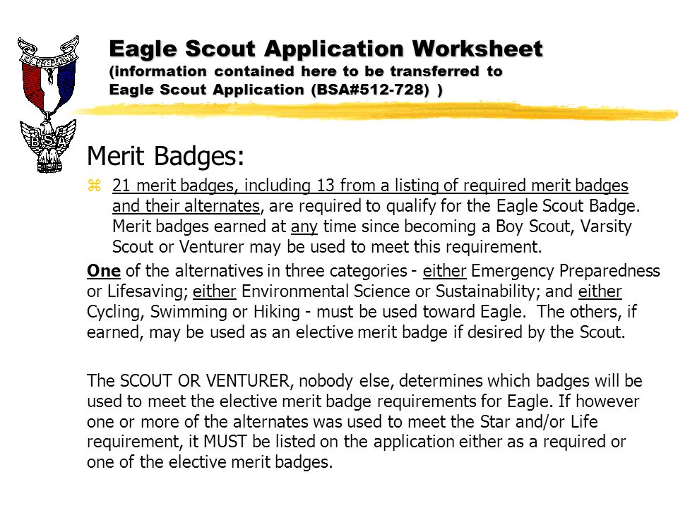 Eagle Scout Application ppt download – Personal Management Merit Badge Worksheet Answers