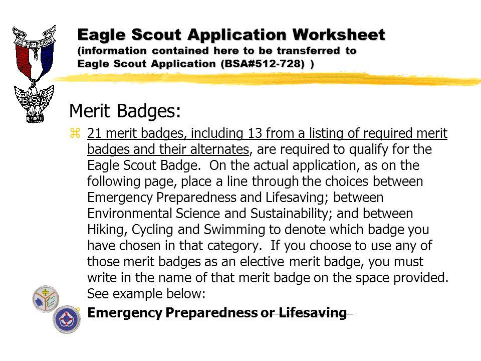 Worksheets Eagle Scout Requirements Worksheet eagle scout application ppt download 23 eagle