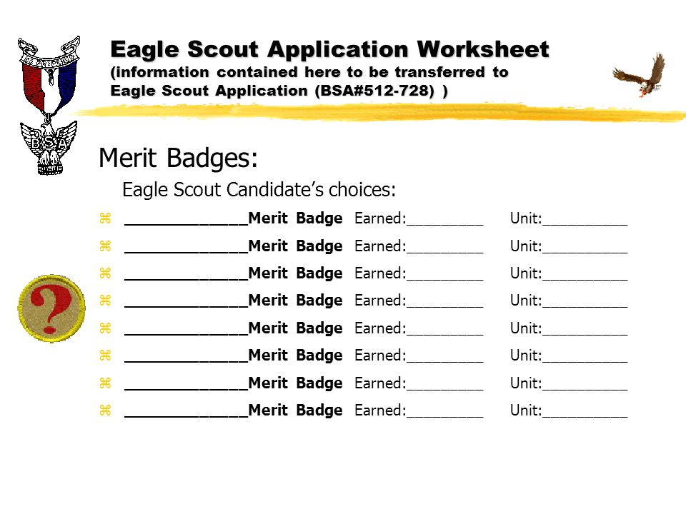 eagle scout essay The eagle scout competition is conducted on a calendar year basis registered eagle scouts under age 19 are eligible to apply application includes scout achievements, a 4-generation ancestor chart and a 500 word patriotic essay.