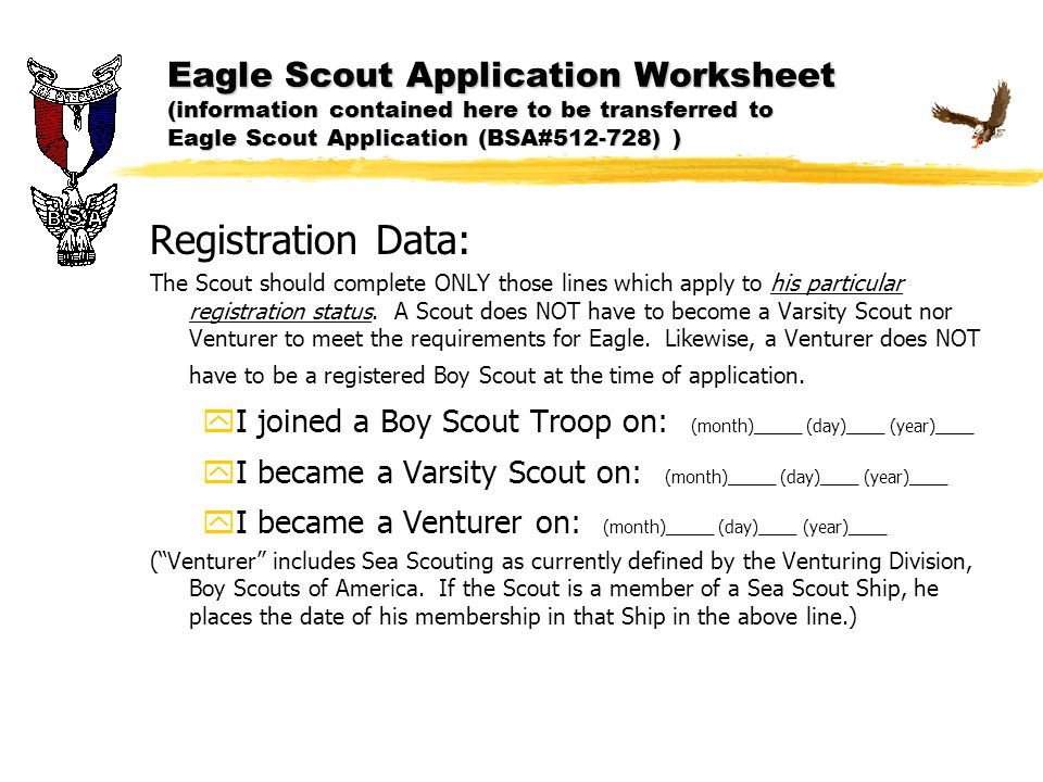 Eagle Scout Application ppt download – Eagle Scout Requirements Worksheet