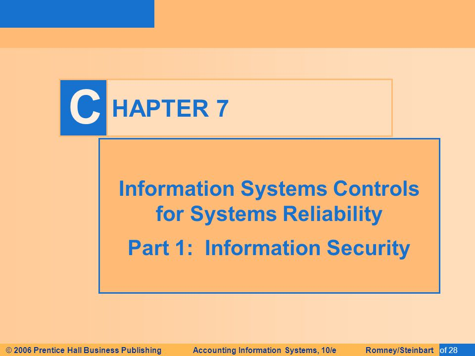 information system controls for systems reliability